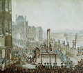 The Execution of Georges Cadoudal 1771-1804 and his Accomplices, Place de Greve, 25th June 1804 - Armand de Polignac
