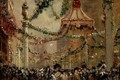 Decorations in St. Jamess Street for the Coronation of King George V, 1910 - George Hyde Pownall