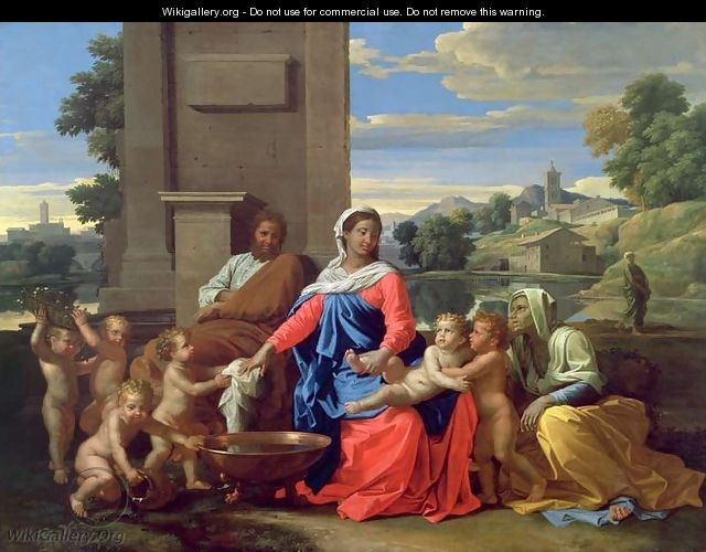The Holy Family with the Infant St. John the Baptist and St. Elizabeth, 1650-51 - Nicolas Poussin