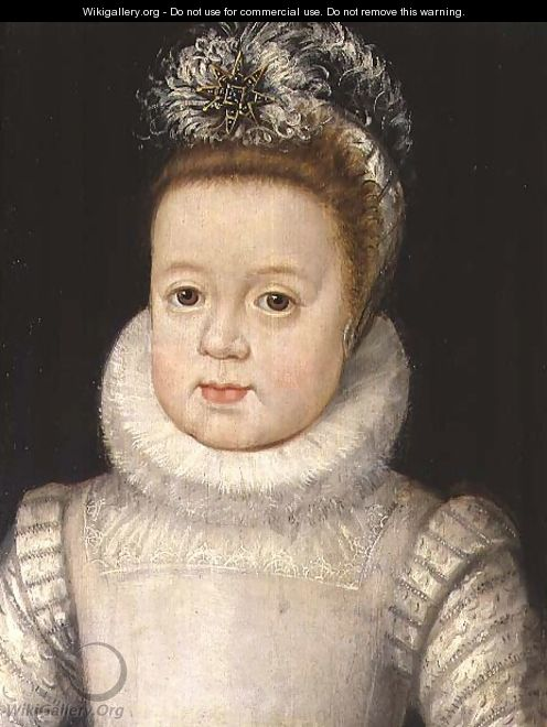 Portrait of a child, said to be Louis XIII 1601-43, c.1604 - Frans, the Younger Pourbus