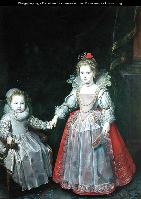 Philippe Emmanuel de Croy and his Sister Marie - Frans, the Younger Pourbus