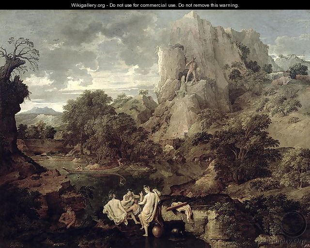 Landscape with Hercules and Cacus, c.1656 - Nicolas Poussin