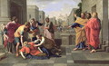 The Death of Sapphira - Nicolas Poussin