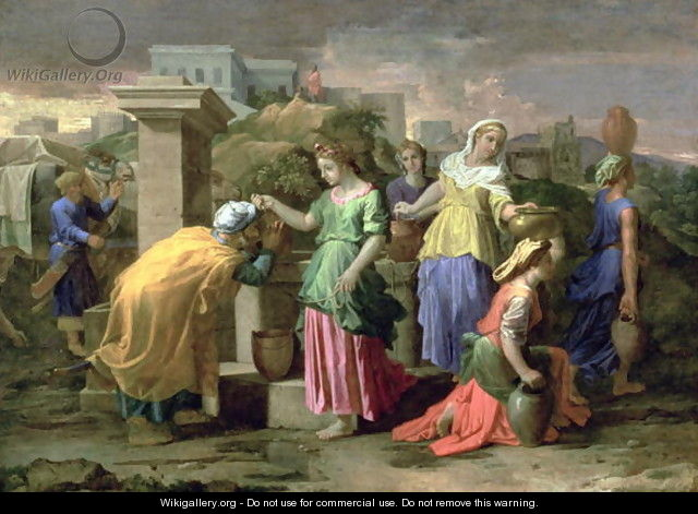 Eliezer and Rebecca at the Well, c.1660-65 - Nicolas Poussin