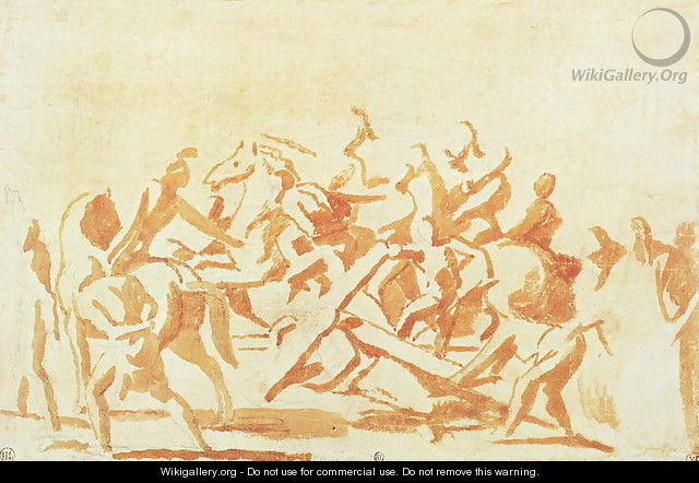 Study of Christ Carrying the Cross - Nicolas Poussin