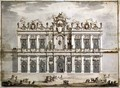 Design of a facade, probably for the Festa della Chinea of 1766 - Paolo Posi