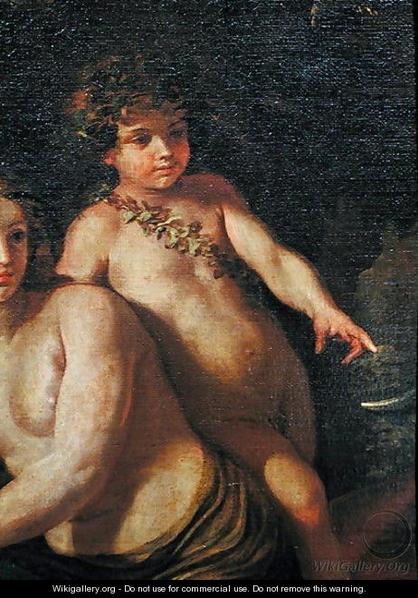 The Childhood of Bacchus detail of Bacchus as a young boy, c.1630 - Nicolas Poussin