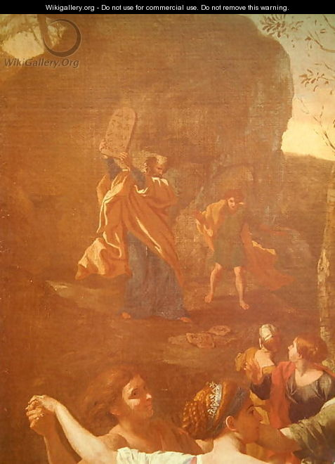 The Adoration of the Golden Calf, before 1634 3 - Nicolas Poussin