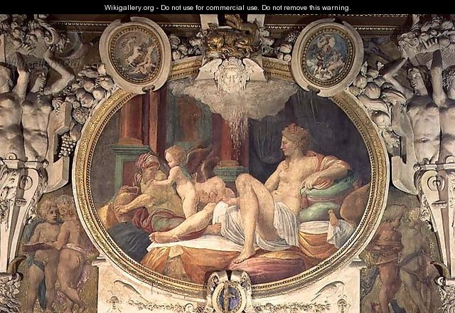 Danae Receiving the Shower of Gold, from the Gallery of Francois I, 1535-40 - Francesco Primaticcio
