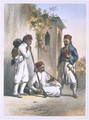 Nizamior, Regular Troops of the Turkish Army at Kanka, illustration from The Valley of the Nile, engraved by Mouilleron, pub. by Lemercier, 1848 - Emile Prisse d'Avennes