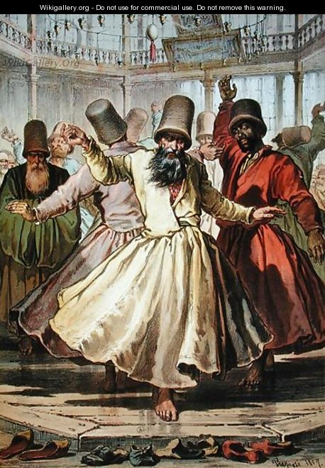 Dancing Dervishes, 1857 - Amadeo Preziosi