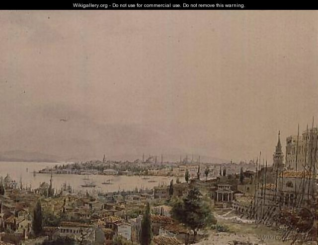 View of Constantinople from Pera - Amadeo Preziosi