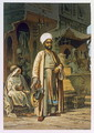 The Barber, from Souvenir of Cairo, 1862 - Amadeo Preziosi