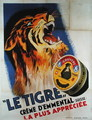 Poster advertising Le Tigre Swiss cheese from Emmental, 1931 - G. Preux