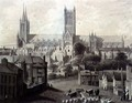Lincoln Cathedral from the South - Augustus Charles Pugin