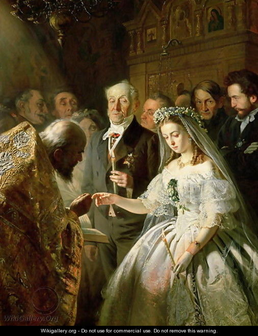 The Arranged Marriage, 1862 - Vasili Vladimirovits Pukirev
