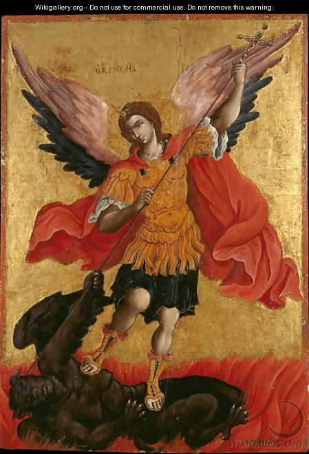 Icon of the Archangel Michael - Theodoros Pulakis