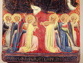 The Coronation of the Virgin, detail of angel musicians, c.1350 - Simone Puccio di