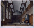 Hall of Charter House, from History of Charter House School', part of 'History of the Colleges, engraved by Daniel Havell 1785-1826 pub. by R. Ackermann, 1816 - (after) Pugin, Augustus Charles