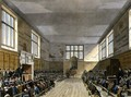 Harrow School Room from History of Harrow School, part of History of the Colleges, engraved by Daniel Havell 1785-1826 pub. by R. Ackermann, 1816 - (after) Pugin, Augustus Charles
