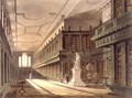 Interior of the Library of All Souls College, illustration from the History of Oxford, engraved by J. Bluck fl.1791-1831 pub. by R. Ackermann, 1814 - (after) Pugin, Augustus Charles