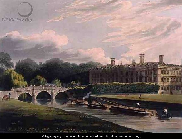 Exterior Of Clare Hall Cambridge From The History Of Cambridge Engraved By J Bluck