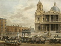 Funeral Procession of the late Viscount Nelson, from the Admiralty to St.Pauls, 9th January 1806, engraved by Merigot, pub. 1806 - (after) Pugin, Augustus Charles