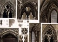 Fragments and Arches in Westminster Abbey, plate 11 from Westminster Abbey, engraved by Thomas Sutherland, pub. by Rudolph Ackermann 1764-1834 1811 - (after) Pugin, Augustus Charles