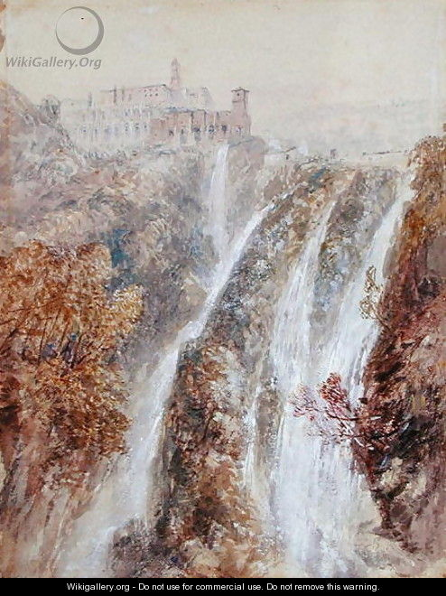Landscape with a waterfall - John Skinner Prout