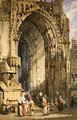 The Porch, Rheims Cathedral, c.1840 - Samuel Prout