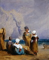 Figures on the beach - Samuel Prout
