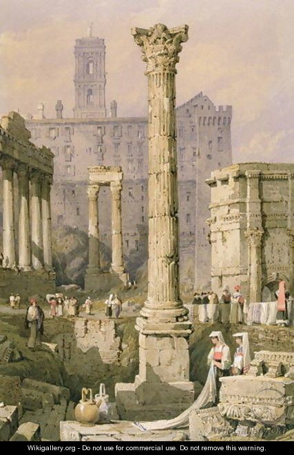 View of the Forum, Rome - Samuel Prout