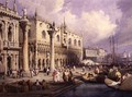 The Molo and the Doges Palace, Venice - Samuel Prout