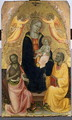 Enthroned Madonna and Child being crowned by two Angels, John the Baptist and the Apostle Peter, c.1410-20 - Baldese Pseudo