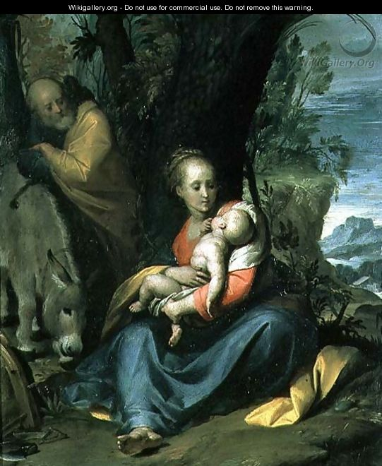 The Rest on the Flight into Egypt - Camillo Procaccini