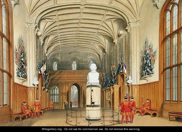 The Guard Chamber, Windsor Castle, 1838 - James Baker Pyne