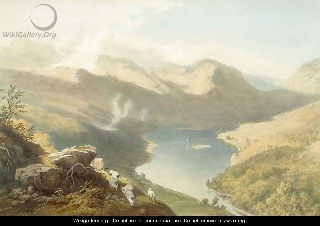 Grasmere from Langdale Fell, from The English Lake District, 1853 - James Baker Pyne