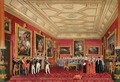 The Rubens Room, Windsor Castle - the King of France receiving an address from the Alderman, 1838 - James Baker Pyne