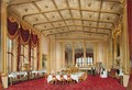 The Private Dining Room, Windsor Castle, from Windsor and its Surrounding Scenery, 1838 - James Baker Pyne