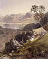 Thirlmere and Wythburn, detail of a sketching party, from The English Lake District, 1853 - James Baker Pyne