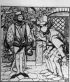 Peterkins brothers marvel at the fine clothes that the hare gave him - Howard Pyle