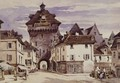 Street Scene in Loches, France - Charles Claude Pyne
