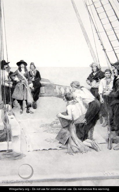 Phips recovering the sunken treasures, 1690s, published in Harpers Magazine, 1901 - Howard Pyle