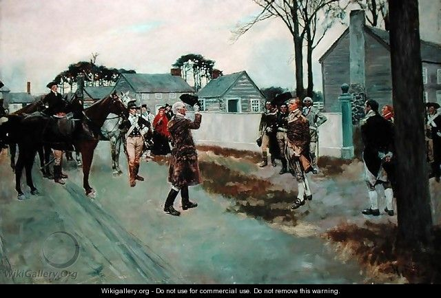 The Meeting of Greene and Gates at Charlotte, N.C., from The Story of the Revolution by Henry Cabot Lodge 1850-1924 - Howard Pyle