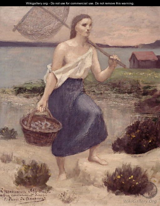 The Fisherwoman - Pierre-Cecile Puvis de Chavannes
