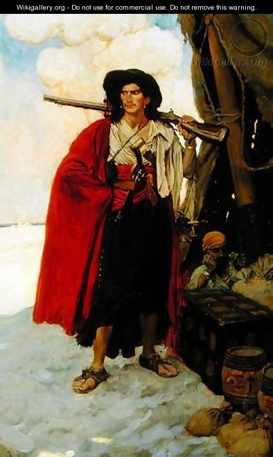 The Buccaneer Was a Picturesque Fellow, from The Fate of Treasure Town by Howard Pyle, published in Harpers Monthly Magazine, December 1905 - Howard Pyle