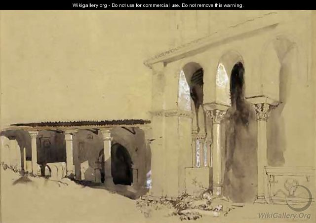 The Great Square at Torcello, 1850 - John Ruskin
