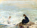 Mother and Child at the Waters Edge - George William Russell