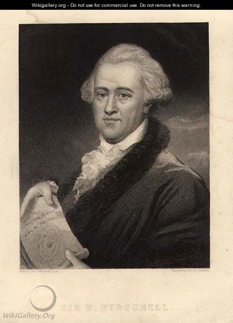 Portrait of Sir William Herschel 1738-1822, engraved by Edward Scriven 1775-1841 - (after) Russell, John