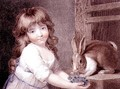 The Favourite Rabbit, engraved and pub. by Charles Knight 1743-c.1826 1792 - (after) Russell, John